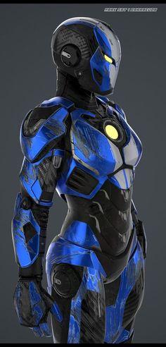 Iron Girl (Cool looking for a girl! Armor Concept, Concept Art, Iron Girl, Character Concept, Character Design, Iron Man Armor, Cyberpunk, Hq Marvel, Female Armor
