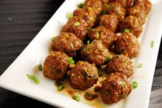 ASIAN MEATBALLS   1lb extra lean ground beef (96/4) 1/2 cup Panko breadcrumbs 1 tbsp sesame oil 4 garlic cloves, minced 1 tsp ground ginger 3 scallions, minced 1/3 cup, plus 2 tbsp reduced sodium soy sauce 1/4 cup liquid egg substitute, like Eggbeaters 2 tbsp rice vinegar 2 tbsp honey