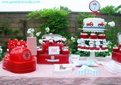 """Photo 1 of 8: Fire Truck / Birthday """"Vintage Firetruck"""" 