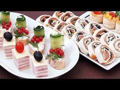4 Retete de Aperitive rapide pentru sarbatori - YouTube Finger Food Appetizers, Finger Foods, Appetizer Recipes, Veggie Skewers, Sushi, Healthy Lifestyle, Bakery, Veggies, Food And Drink