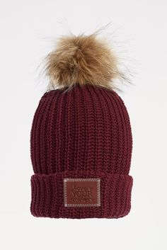 LOVE YOUR MELON Burgundy Pom Beanie Love Your Melon Beanie, Beanie Outfit, Burgundy Wine, Cute Hats, Graduation Gifts, Winter Hats, Style Inspiration, Ox, Christmas Ideas