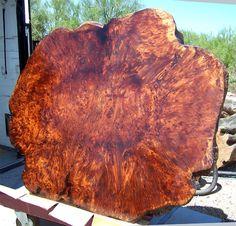 Awesome Redwood Burl Table By Joni Hamari, Hamari Design