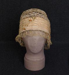1920s Clothing at Vintage Textile: #7220 lace boudoir cap