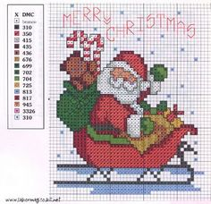 Image Detail for - ... Eliseteart are available many cross-stitch patterns of Santa Claus