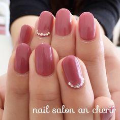Gem Nails, Love Nails, Pink Nails, Pretty Nails, Colorful Nail Designs, Nail Polish Designs, Nail Art Designs, Manicure E Pedicure, Nail Accessories