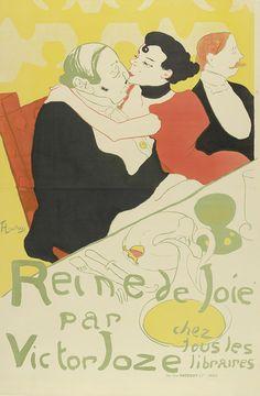 Henri de Toulouse-Lautrec - Poster for the novel Reine de joie, moeurs du demi-monde by Victor Joze, Van Gogh Museum, Amsterdam (purchased with support from the BankGiro Loterij). Henri De Toulouse Lautrec, Vintage French Posters, French Vintage, French Art, Retro Poster, Poster Art, Art Posters, Van Gogh Museum, Alphonse Mucha