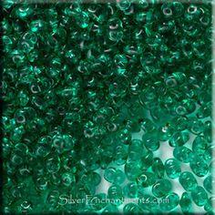 Super Duo Beads, Emerald, Czech SuperDuo Beads