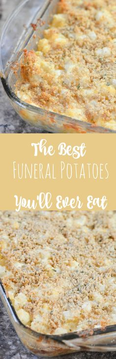 Side dishes These are the BEST funeral potatoes youll ever eat. ITs an amazing potato side dish that is super addicting. Potato Sides, Potato Side Dishes, Vegetable Dishes, Vegetable Recipes, Easy Potluck Side Dishes, Chicken Side Dishes, Best Side Dishes, Chicken Soup, Tasty Potato Recipes