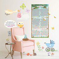 Baby Rubbel-Kalender Schwangerschaftstagebuch Poster Ratgeber zur Schwangerschaft Kalender