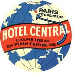 Paris France Hotel Vintage Looking Travel Decal Luggage Label Sticker | eBay