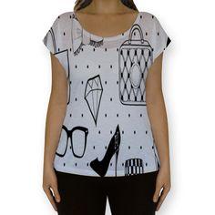 Camiseta fullprint Acessórios femininos de @fulaninha | Colab55