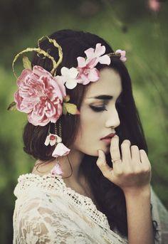 #Floral Crown #Flowers #Headpiece #Wedding #Whimsical #Women