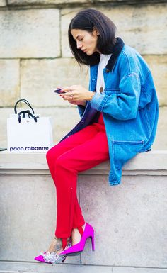 All the Fashion Girls Are Wearing This Leggings-Pants Hybrid via @WhoWhatWearUK