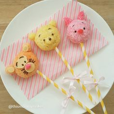 Pooh & friends rice cake pops! By Russet (@thismommymakes)
