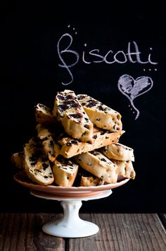 Dark Chocolate Chip and Currant Biscotti, recipe roughly adapted from David Lebovitz's Ready for Dessert, via Desserts for Breakfast #baking