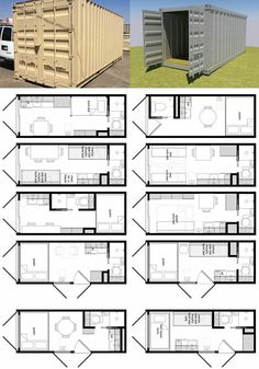 Shipping container layouts