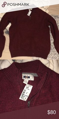 Men's wearhouse knitted sweater Brand new with tags. So nice, just didn't fit my boyfriend. Tags: urban outfitters, men's wearhouse, express Joseph Abboud Sweaters