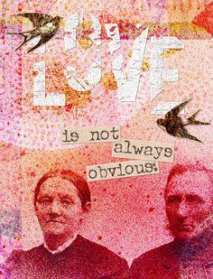 Love is not always obvious - art journal. Art Journaling journal inspiration #collage #art