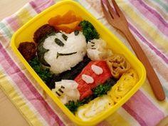 ご飯とおかずでミッキーマウスのキャラ弁当|レシピブログ