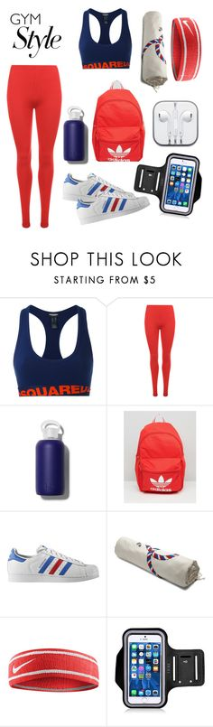 """""""Sportswear"""" by fentymelike ❤ liked on Polyvore featuring Dsquared2, WearAll, bkr, adidas, adidas Originals, Loewe and NIKE"""