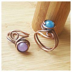 Semplice filo avvolto l'azzurrite anello/filo di FromRONIKwithLove