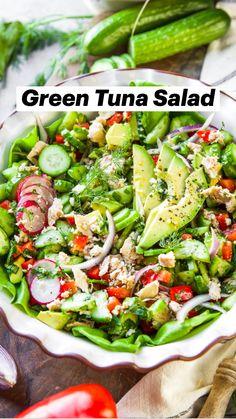 Fresh Salad Recipes, Healthy Salad Recipes, Healthy Meal Prep, Healthy Cooking, Healthy Eating, Cooking Recipes, Meal Prep Salads, Healthy Tuna Salad, Best Egg Salad Recipe