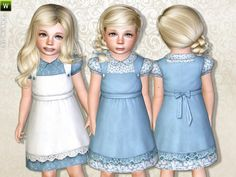 The Sims Resource - TSR Toddler Farm Dress by Lillka - Sims 3 Downloads CC Caboodle