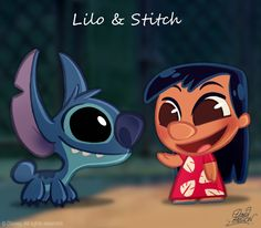 Chibi Lilo's not sooo different from normal Disney Lilo. I just loved Lilo and Stitch! by david gilson Kawaii Disney, Chibi Disney, Cute Disney, Disney Stitch, Lilo Et Stitch, Disney Magic, Images Disney, Disney Pictures, Cartoon Cartoon