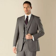 Occasions Grey plain weave regular fit 2 button jacket- at Debenhams.com