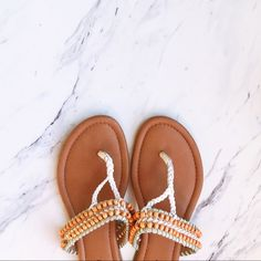 Lucky Brand Dollis Thong Beaded Sandals Beautiful sandals. Practically perfect condition, but only 2 beads are missing (as pictured). Unnoticeable when worn though. Beaded and woven, these are the perfect sandals for summer and a day on the beach! Take these bad boys on your next vacation!☀️ Lucky Brand Shoes Sandals