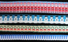 Here are some holiday bands that the Weavers' Guild of St. Louis' Long & Skinny study group designed and wove.   It isn't too late to create...