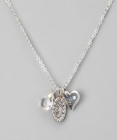 Take a look at this Sterling Silver 'Love' Charm Initial Necklace by Jenny Present on #zulily today!