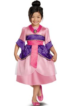 Who's that little Mulan??  :-)  Best. Costume. Ever.  Disney Princess Mulan Sparkle Classic Child Costume #halloween #costumes #mulan #disney #disneyprincess