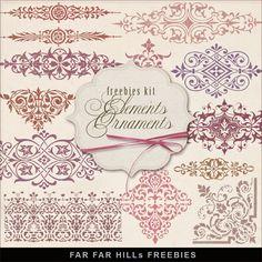 Far Far Hill Jan 8, 2015 New Freebies Kit of Elements Ornaments