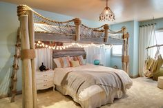 imitating a beach architecture could take the decor of a shared bedroom to the next level - DigsDigs