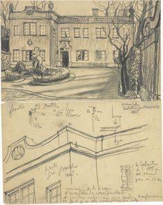 Façade de maison à Munich. Détails, 1910 - Le Corbusier