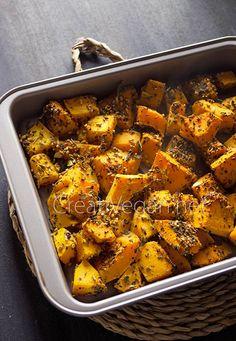 Una receta muy fácil para hacer calabaza asada con especias y usar como acompañamiento, guarnición o para preparar otros platos.