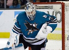 San Jose Sharks goalie Martin Jones stops a shot during the second period of an NHL hockey game against the Detroit Red Wings on Thursday, Jan. 7, 2016, in San Jose, Calif. (AP Photo/Marcio Jose Sanchez)