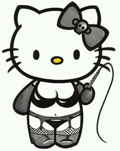 to 10 inch Hello kitty goth emo whip wall sticker glossy cut out border Hello Kitty Art, Hello Kitty Tattoos, Hello Kitty Birthday, Emo Wallpaper, Hello Kitty Wallpaper, Kitty Drawing, Hello Kitty Imagenes, Hello Kitty Pictures, Cute Love Cartoons