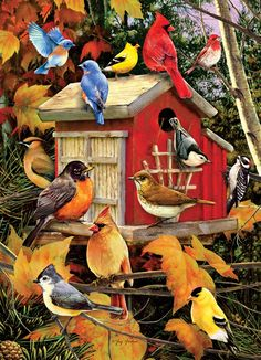"""Fall Birdhouse"""