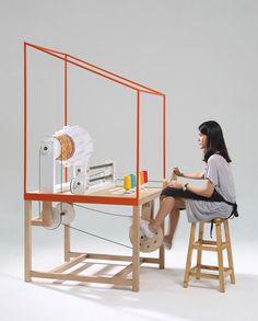 Lanna Factory machine by THINKK Studio produces customisable lampshades