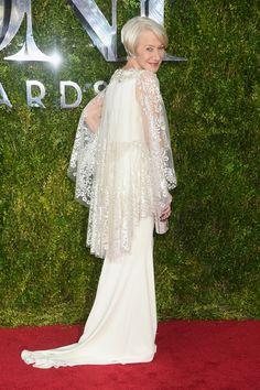 Helen Mirren de Badgley Mischka - Tony Awards