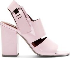 Alexander Wang - Pink Patent Leather Sara Heeled Sandals