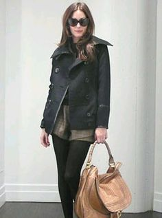 Who made Olivia Palermo's short, black jacket, black sunglasses, jewelry, shoes and purse that she wore for Vogue's website? Shorts – Min-K boutique in Nolita  Shoes – Topshop  Shirt – COS  Jacket – Armani Exchange  Purse -Chloe  Sunglasses – Tom Ford a  Bracelet – CC Skye