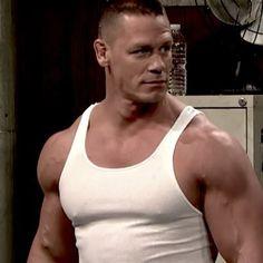 John Cena John Cena Pictures, Wwe Superstar John Cena, Cleft Chin, Beefy Men, Football Boys, Muscle Tank Tops, Muscular Men, Irish Men, Wwe Superstars