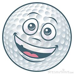 Pelota de golf. Personaje de dibujos animados.