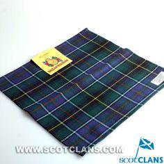 Clan MacInnes Modern Tartan Wool Handkerchief