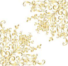 Gold Corners PNG Clip Art Image