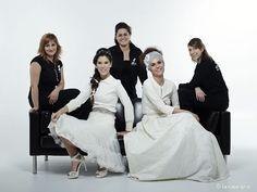 El equipo de Littas con las modelos Ainhoa y Marina de M.Class