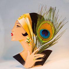 Art Nouveau Inspired Peacock Jewellery by Aurelia Eglantine on Etsy